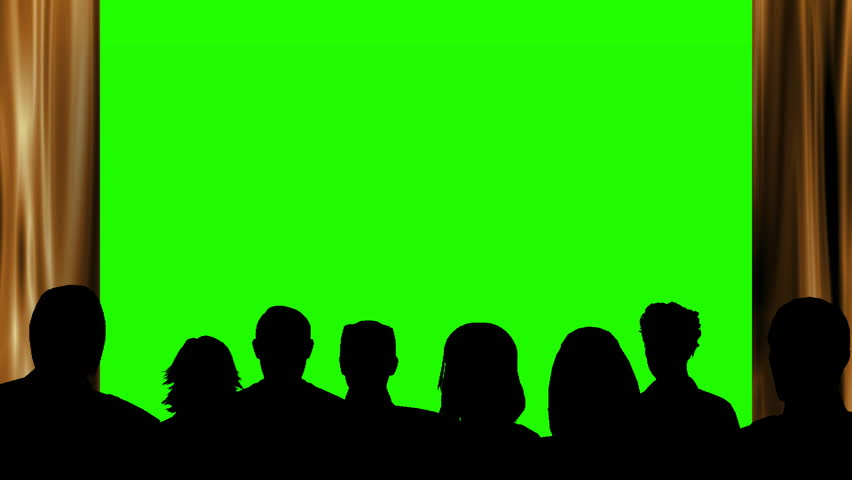 Audience watching something on a green screen. | Shutterstock HD Video #1016125141