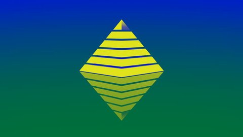 4k Pyramid triangle geometry design Ethereum element abstract ether object mystery background. cg_06183_4k