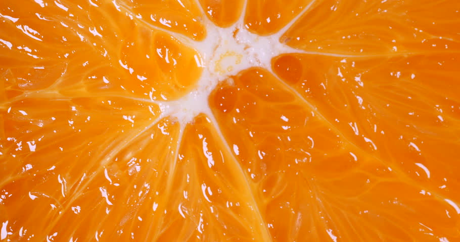 Marco shot of orange fruit and rotate.Close up flesh of orange. | Shutterstock HD Video #1016173081
