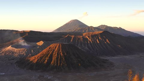 Sunrise on Mt. Bromo and the Tengger Semeru caldera from Mount Penanjakan, Indonesia. Taken on August 26, 2018.