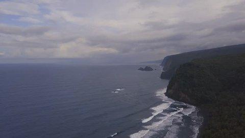 Pololu Lookout on the Big Island Hawaii Kona Kailua drone video Pololu Valley