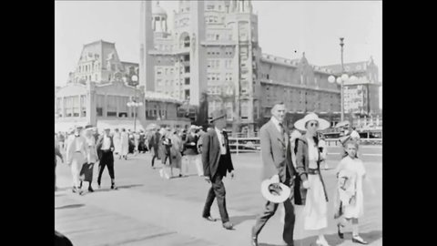CIRCA 1919 - A Turkish-style hotel is seen on the Atlantic City boardwalk.