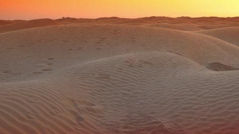 evening in Sahara desert