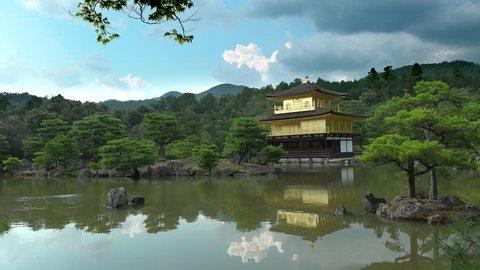 Exterior Of The Kinkaju Ji Temple And Its Lake