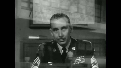 CIRCA 1950s - General John Bruce Medaris is shown in a meeting with space architect Wernher von Braun.