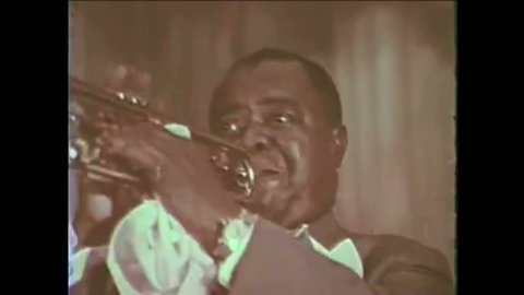 CIRCA 1965 - Louis Armstrong and Carol Channing perform at LBJ's inauguration (narrated by James Cagney).