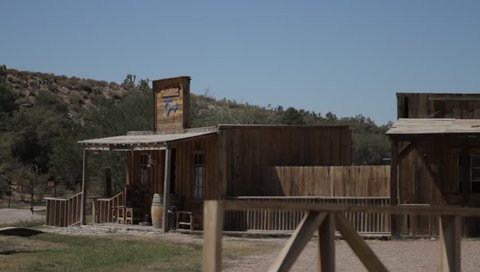 Details Of An Old Wild Western Village In Arizona, USA, native version. Native Material, straight out of the cam,
