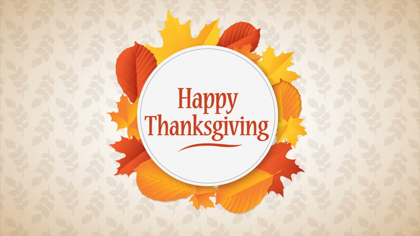 Happy Thanksgiving Day Typographic Animated Design template. Background full of branches and hanging maple Leaves. Happy Thanksgiving banner | Shutterstock HD Video #1016550241