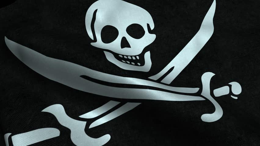 Гифка пиратского флага