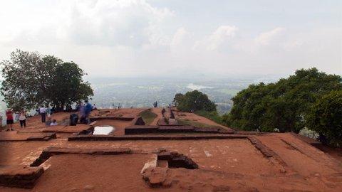 view from the top Sigiriya Lion Rock, Sri Lanka timelapse