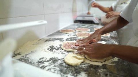 Nightlife Scene in Arraial D'Ajuda Bahia Brazil: Fast Food Esfiha