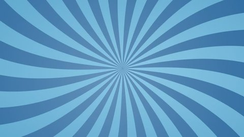 Comic abstract radial motion video with rotation animation in blue color
