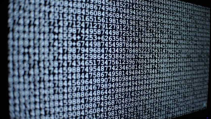 Computer ascii codes on screen running fast like Matrix, hacking, programming, virus atack or cyber crime | Shutterstock HD Video #1016962861