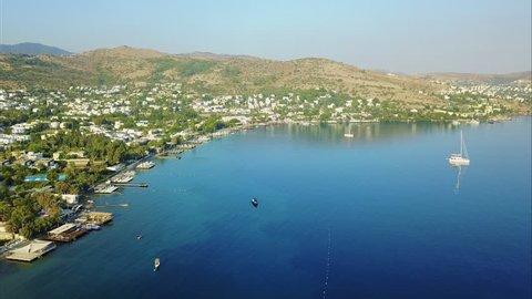 Bodrum Göltürkbükü Gölköy  Mediterranean Sea Aerial View Drone