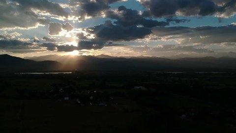 Sunset over the Flatirons