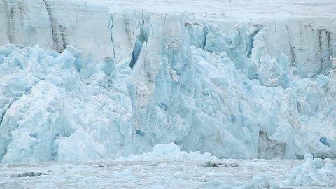 Underwater calving a glacier.