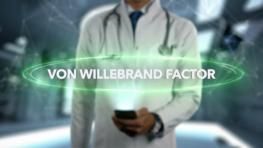 VON WILLEBRAND FACTOR - Male Doctor With Mobile Phone Opens and Touches Hologram Active Ingrident of Medicine   Shutterstock HD Video #1017071611