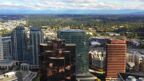 Drone aerial video Bellevue Washington USA