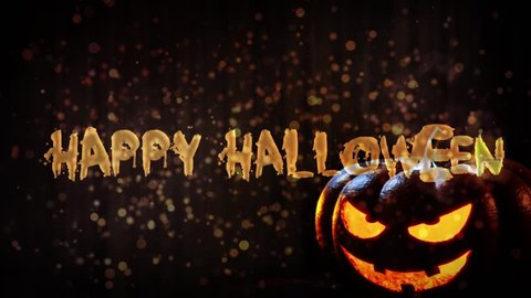 Happy Halloween haunted pumpkin background