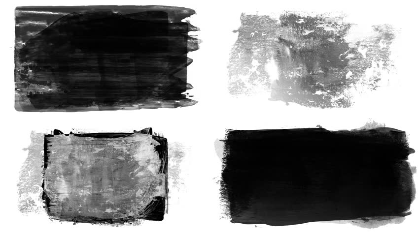 Set of grunge brush stroke. Abstract hand - painted element. Underline and border design. Seamless looping background. 4K | Shutterstock HD Video #1017528181