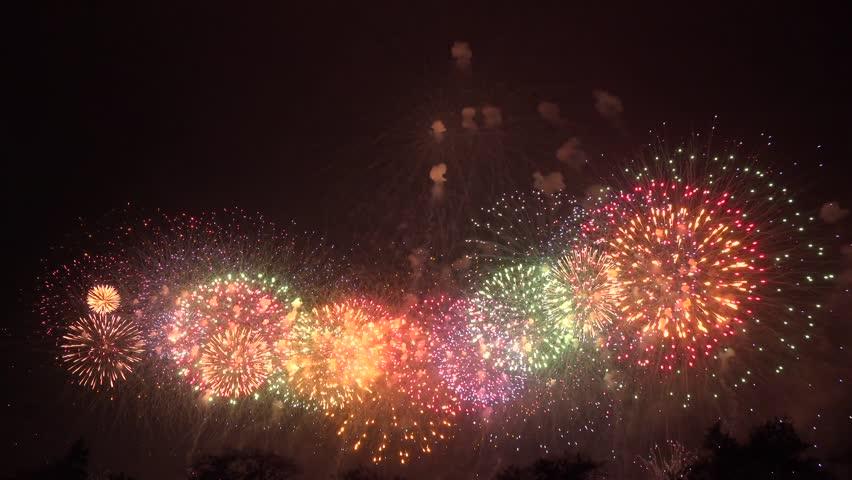 Fireworks japan color | Shutterstock HD Video #1017794491