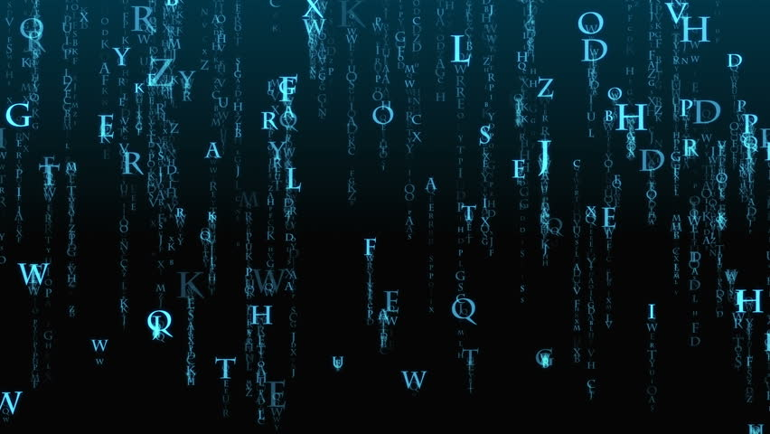 The background matrices of letters. Matrix of the English alphabet. | Shutterstock HD Video #1017876301