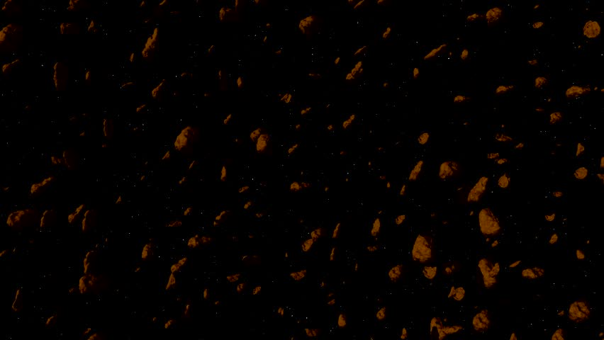 Asteroid Field Hyperspace Quick Fly In And Slow Down Fly Out | Shutterstock HD Video #1018040581