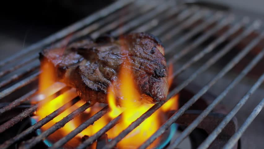BBQ Grill pork Steak. | Shutterstock HD Video #1018213231