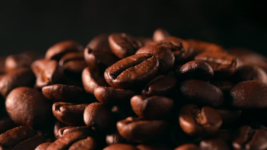 Coffee beans on black background | Shutterstock HD Video #1018300381