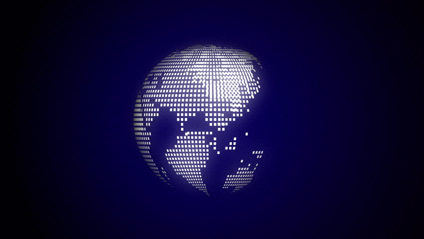 Spinning white dot globe with dark blue background | Shutterstock HD Video #1018328251