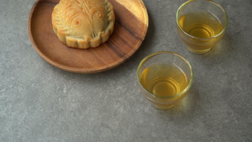 Traditional pastry mooncakes is offered to friends or family during Mid-Autumn Festival.