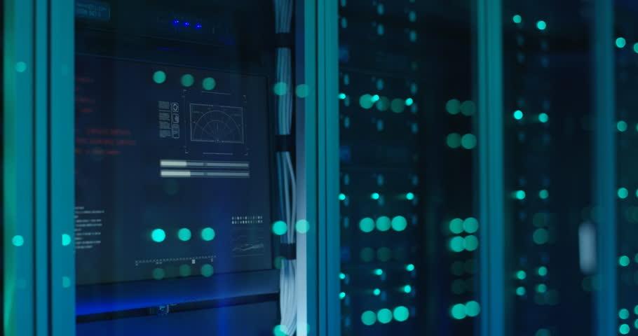 Close up shot of server racks in a modern data center   Shutterstock HD Video #1018479481