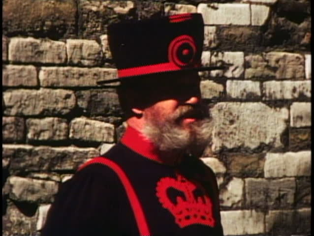 LONDON, ENGLAND, 1976, Beefeater, Yeoman Warder, Tower of London