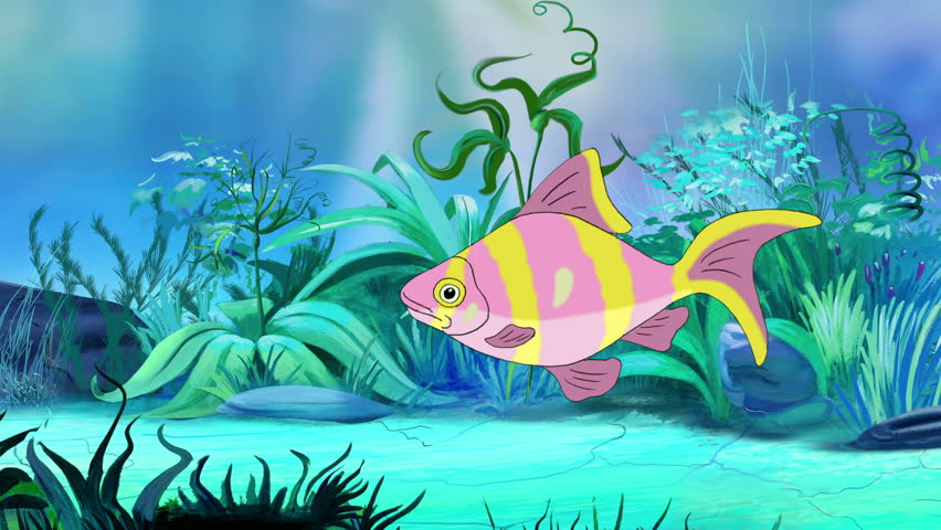 Rose Yellow Striped Aquarium Fish Floats Stock Footage Video 100 Royalty Free 1018555921 Shutterstock