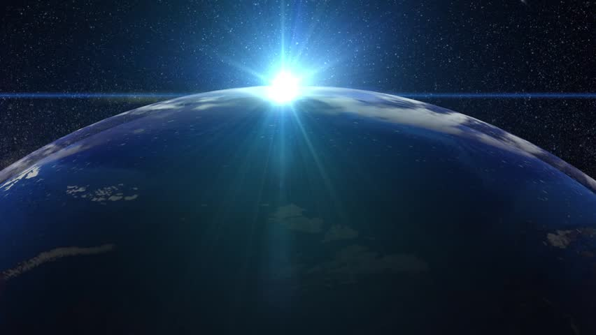 Beautiful Sunset over the Earth animation   Shutterstock HD Video #1018557901