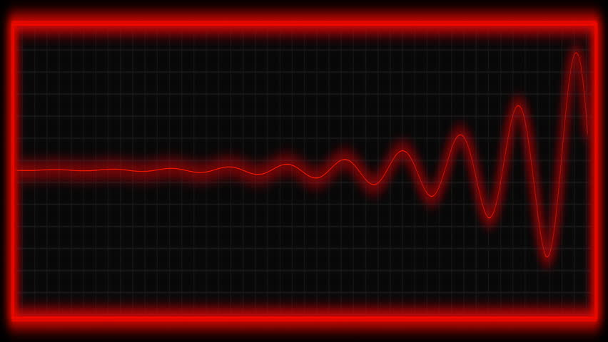 Vital signs monitor in red.