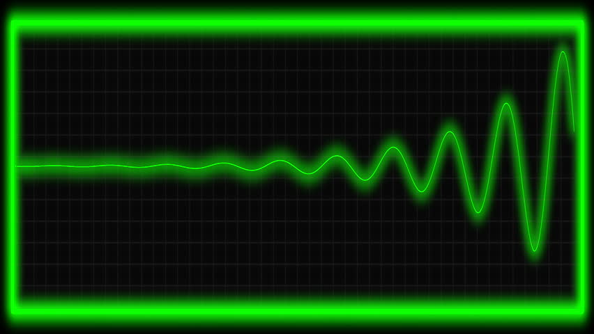 Vital signs monitor in neon green.
