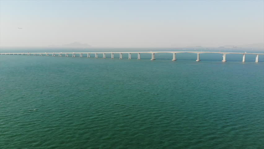 Hong Kong–Zhuhai–Macau Bridge | Shutterstock HD Video #1018731781