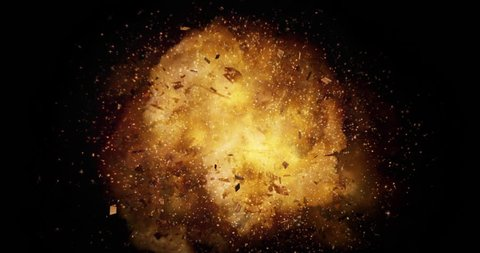 Realistic explosion and blasts with Luma channel. Visual Effects Element.