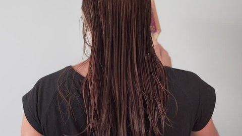 Beautiful Long Hair  Beauty Woman Stock Footage Video (100