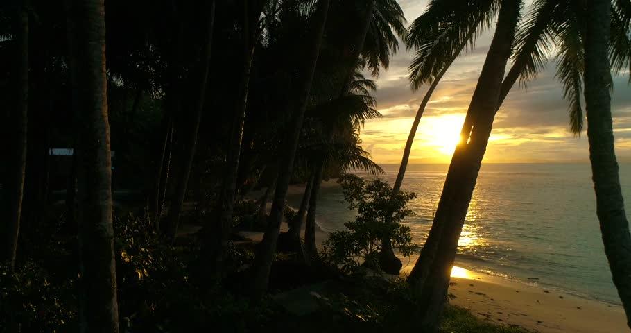 Sunset Mentawai Islands. Pulao Masokut, Sumatra, Indonesia.