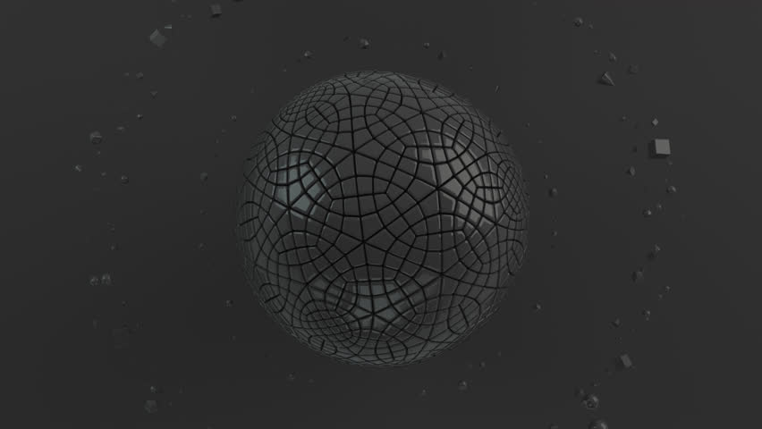 Abstract background with black sphere on the black surface. 3D render illustration | Shutterstock HD Video #1019832661