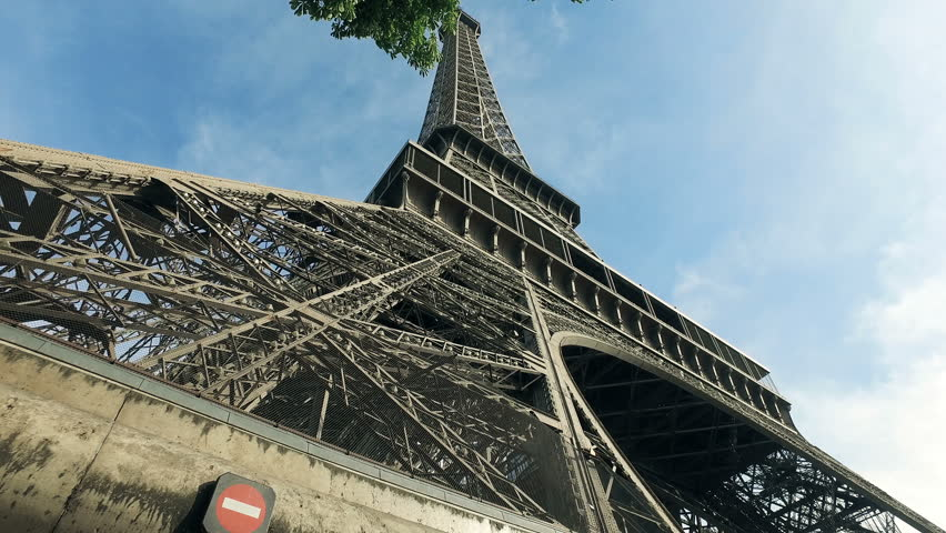 Cinematic Scene Of Paris, View Of The Eiffel Tower | Shutterstock HD Video #1019863441