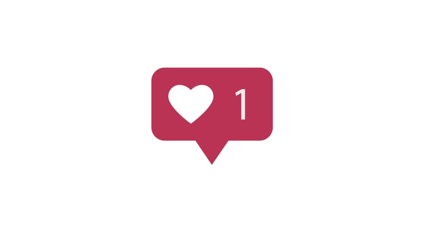 Animation 4K. Pink Like Icon On White Background. Like Counting for Social Media. 1-2k Likes. #1019941531
