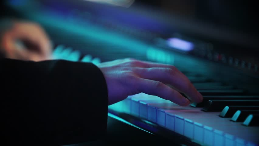 Color footage of some person playing the piano. | Shutterstock HD Video #1020001111
