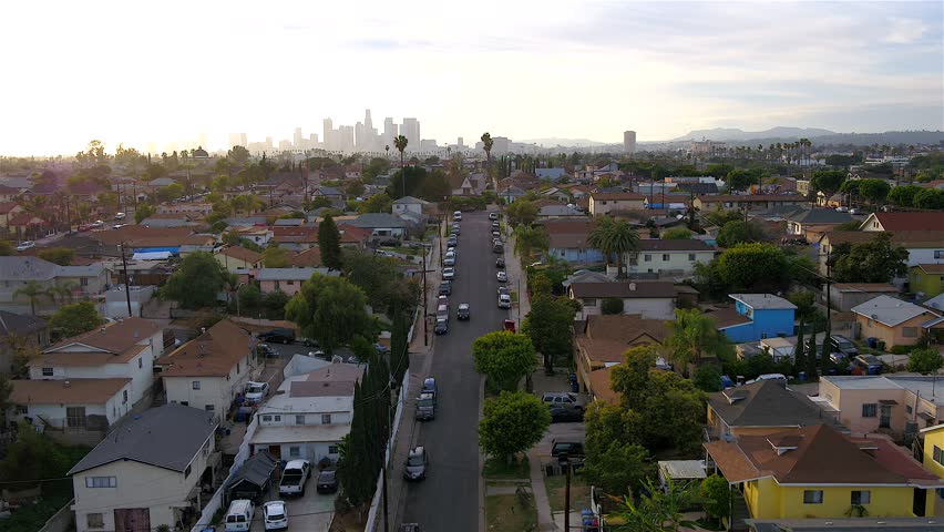 Aerial of Downtown Los Angeles  | Shutterstock HD Video #1020237361