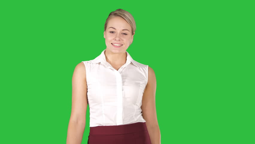 Image of a lovely shopping lady holding her purchases on a Green Screen, Chroma Key.   Shutterstock HD Video #1020310381