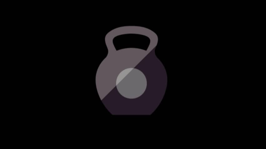 Weigh symbol animation.Sport icons animation | Shutterstock HD Video #1020628921