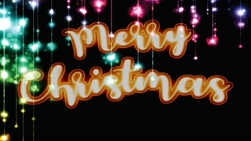 Loop of Merry Christmas greetings text animation. | Shutterstock HD Video #1020714661