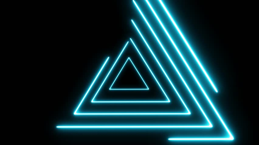 Neon lights abstract motion animated background.Abstract motion lighting equipment and lights effects.Neon lights looped animation for music videos and fluid background.Triangle neon lights.  | Shutterstock HD Video #1020749221